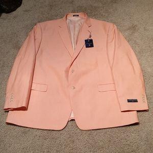 NWT Mens Saddlebred Orance Cream Blazer sz 50R
